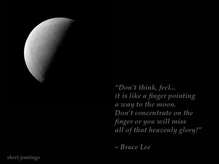 Bruce Lee Philosophy Moon I