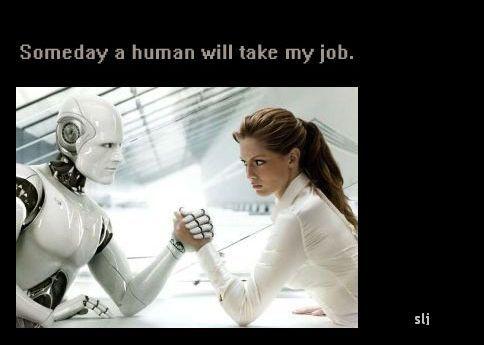 Robot vs Human image