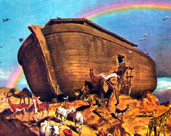 image of noah's ark cartoon