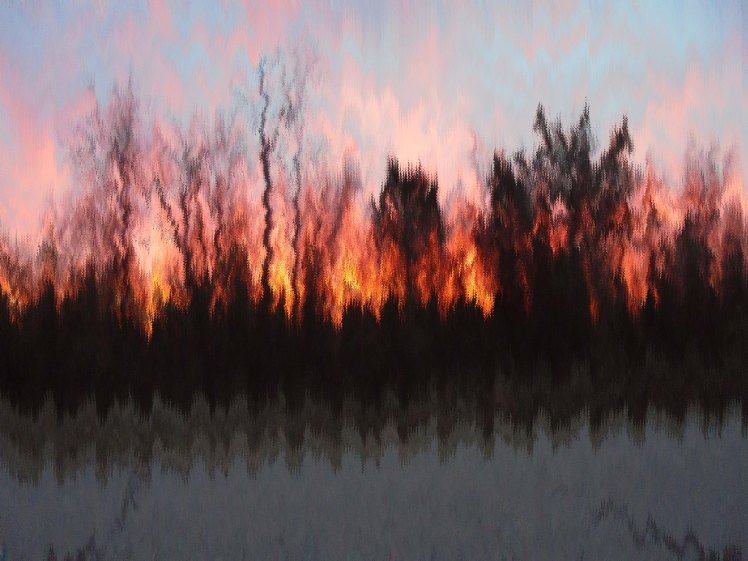 Sunset Pixel Town image