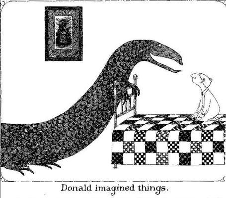 """""""Donald Imagined Things"""" edward gorey image"""