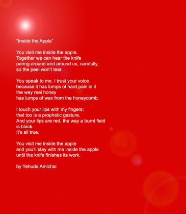 Inside the Apple Yehuda Amichai (1996) poem