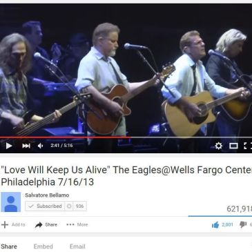 """Eagles """"I Hope So"""" """"Love Will Keep Us Alive"""" Wells Fargo Center"""